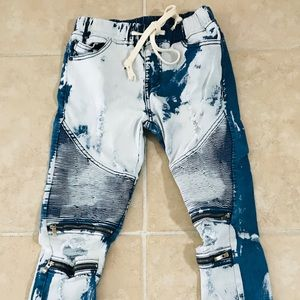 American Bazi Jeans - AMERICAN Acid Wash DECONSTRUCTED JEANS Small